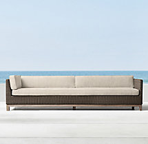 Malibu Four-Seat Left/Right-Arm Return Sofa Cushions