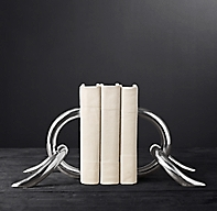 Cast Linked Bookends Set Of 2