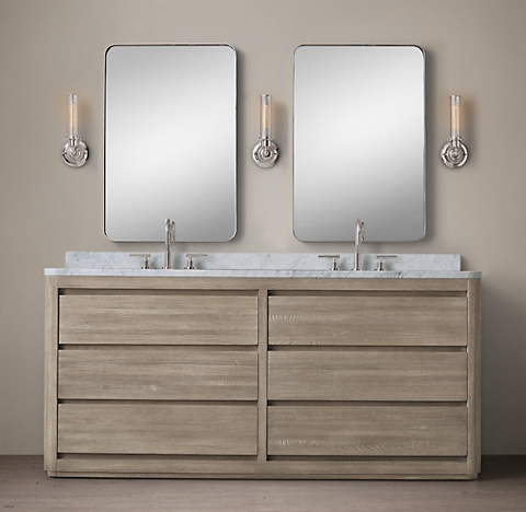 New martens double vanity sink for Restoration hardware bathroom cabinets