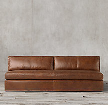 Belgian Track Arm Leather Armless Sofa