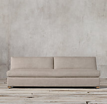 Belgian Track Arm Upholstered Armless Sofa