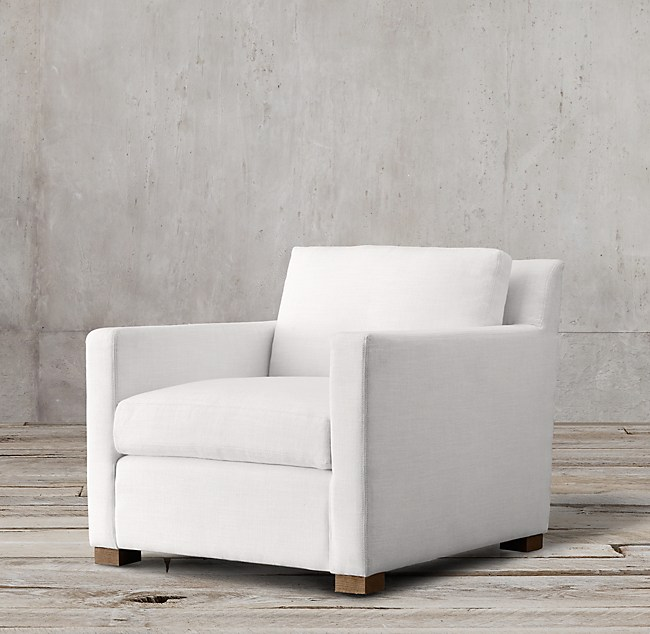 Petite Belgian Track Arm Upholstered Chair