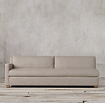 Belgian Track Arm Upholstered Left-Arm Sofa