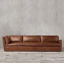 Belgian Slope Arm Leather Right-Arm Return Sofa