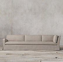 Belgian Slope Arm Slipcovered Left-Arm Return Sofa