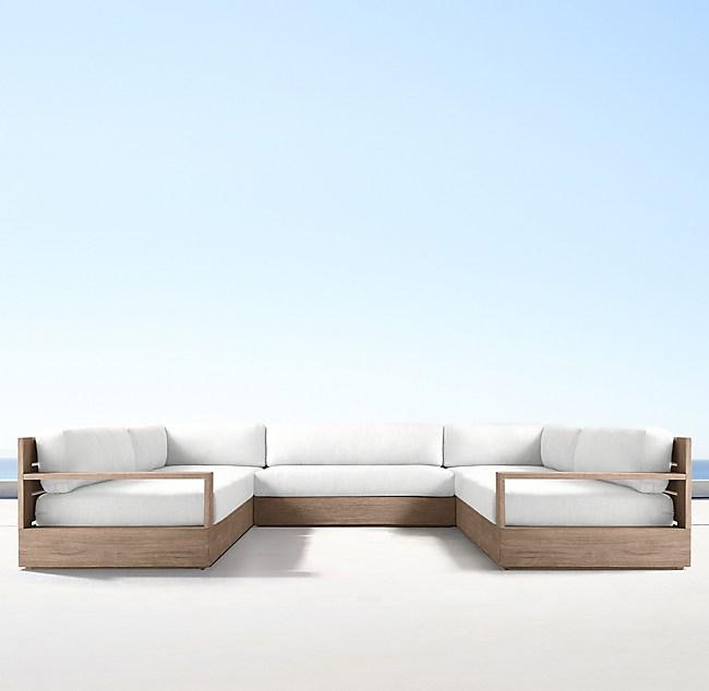 Teak Classic U-Sofa Sectional