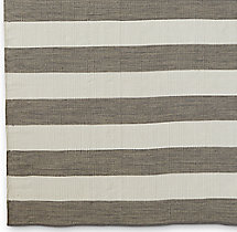 Perennials® Bold Stripe Outdoor Rug Swatch - Charcoal