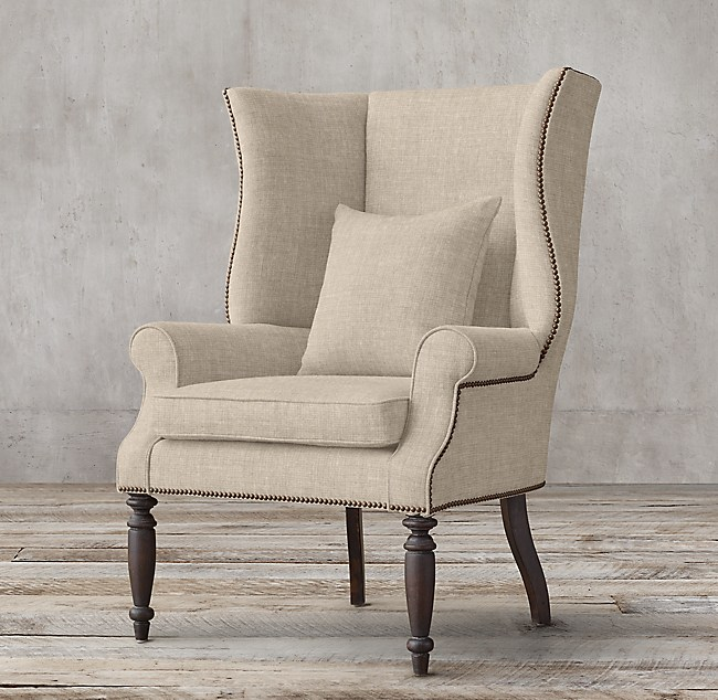 Hampshire Upholstered Wingback Chair