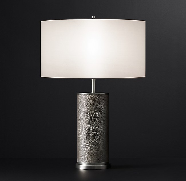 Delano shagreen cylinder table lamp aloadofball Image collections