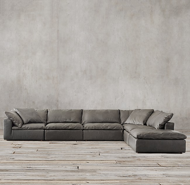 Cloud Modular Leather L Sectional