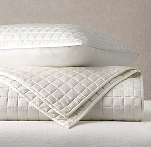Quilts & Coverlets | RH : silk quilted coverlet - Adamdwight.com
