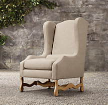 Os De Mouton Outdoor Wing Chair