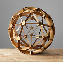 Polyhedron Model - Antiqued Brass