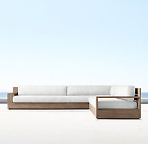 Marbella Teak Classic Left/Right-Arm L-Sectional Cushions