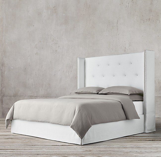 Morrison Tufted Shelter Fabric Bed