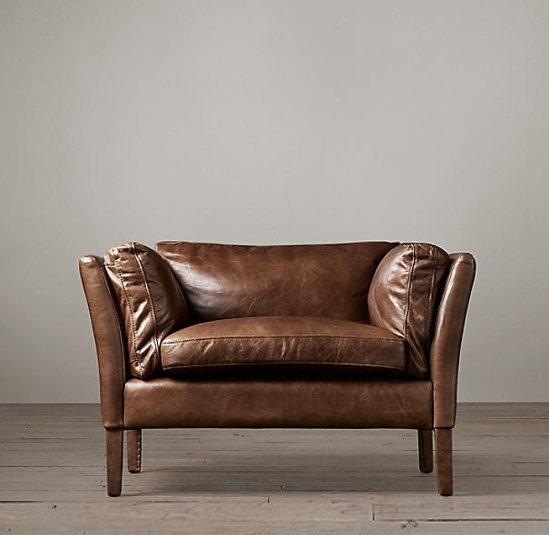 sorensen leather chair. Black Bedroom Furniture Sets. Home Design Ideas