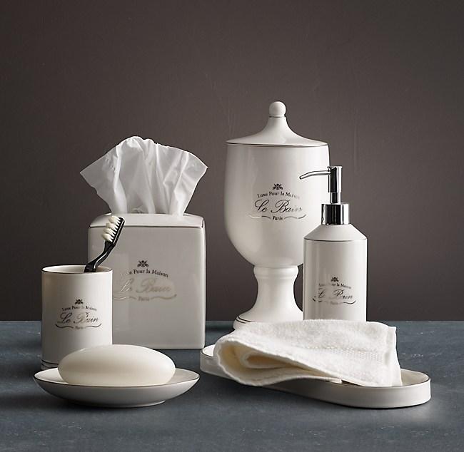 Bain French Porcelain Bath Accessories - White