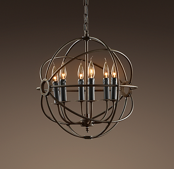 Restoration Hardware Light Fixture Sale: Foucault's Orb Chandelier 18""