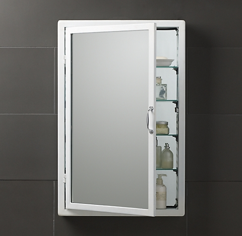 White More Finishes Pharmacy Large Bath Cabinet
