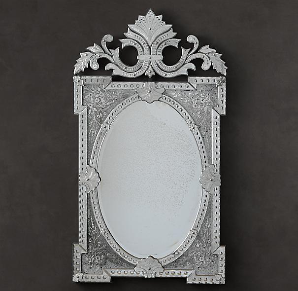 Rococo Floral Etched Mirror