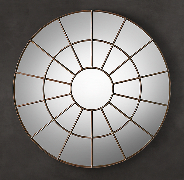 Round palladian mirror for Restoration hardware round mirror