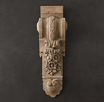 19th C. Baroque Hand-Carved Corbel
