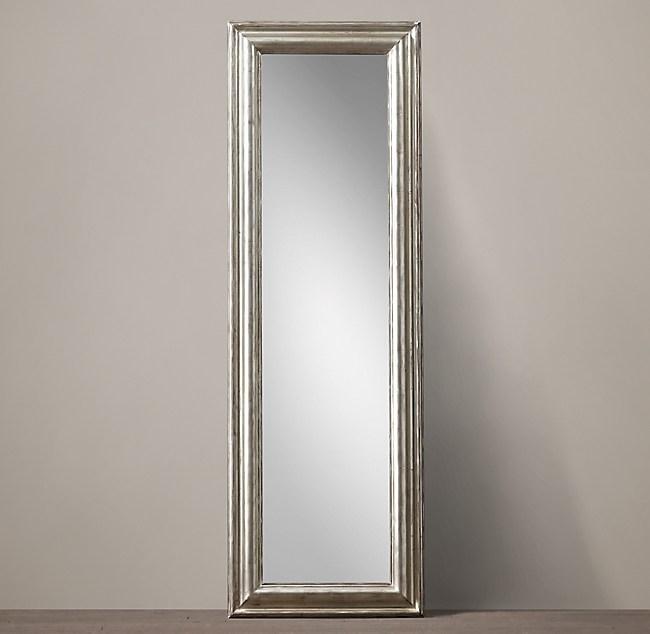 Baroque Aged Silver-Leaf Leaner Mirror