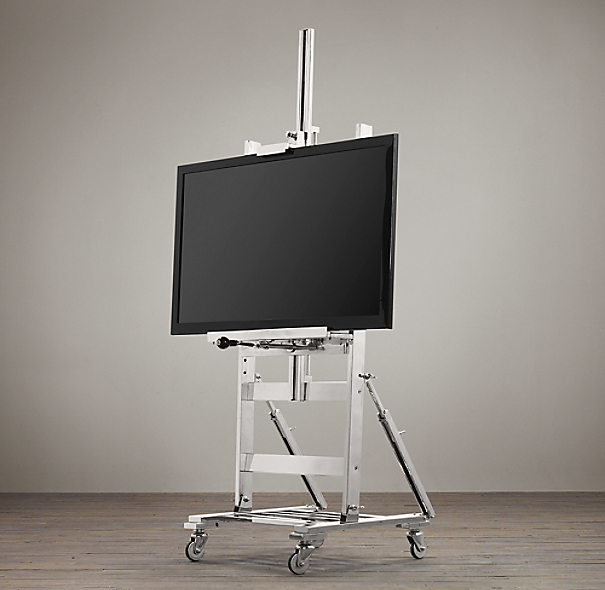 Tv Easel Polished Nickel