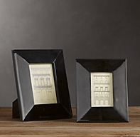 Beveled Horn Wide Tabletop Frames - Black