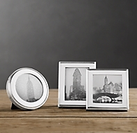Hampton Mini Narrow Tabletop Frames Set Of 3 Silver Plated