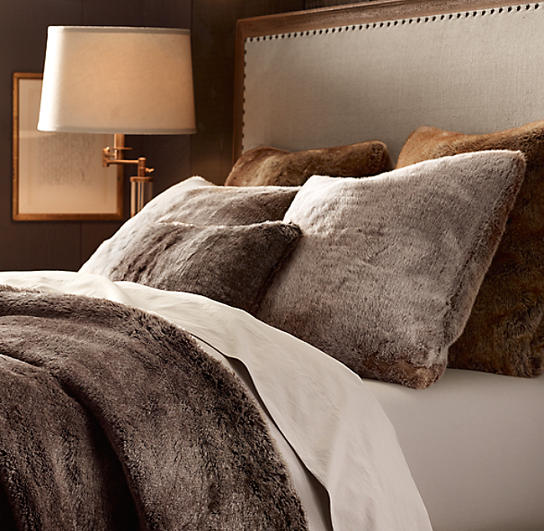 Restoration Hardware Pillows: Luxe Faux Fur Pillow Cover