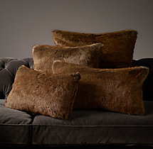 Luxe Faux Fur Pillow Cover - Coyote