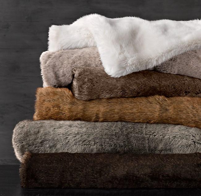 Faux Fur Blanket - Lynx : faux fur quilt - Adamdwight.com