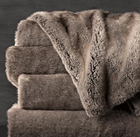 Faux Fur Throw | RH : faux fur quilt - Adamdwight.com
