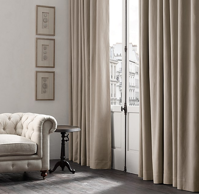 Belgian Brushed Linen Cotton Drapery