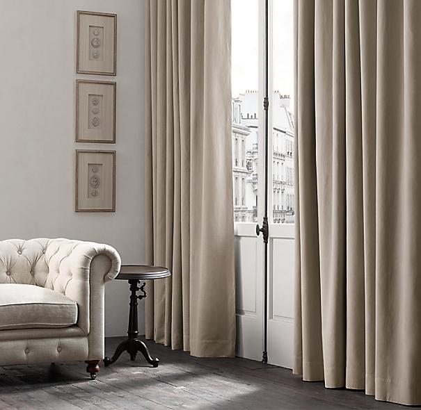 Belgian Brushed Linen Cotton Drapery