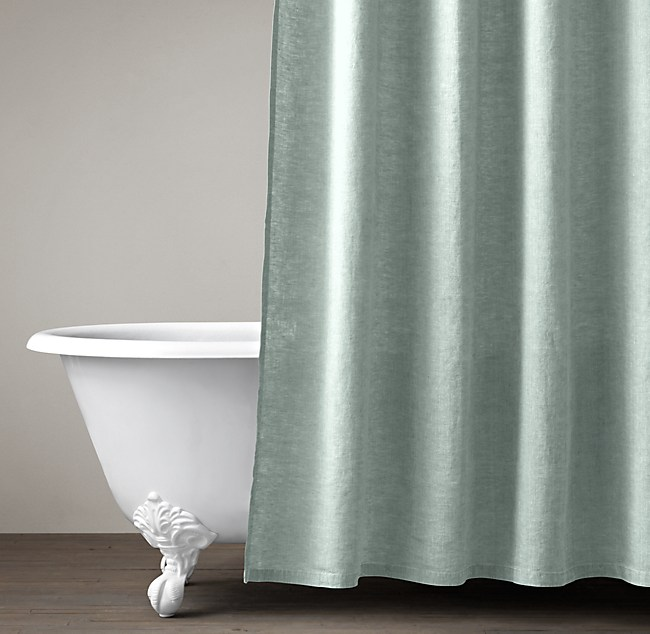 Stonewashed Belgian Linen Shower Curtain