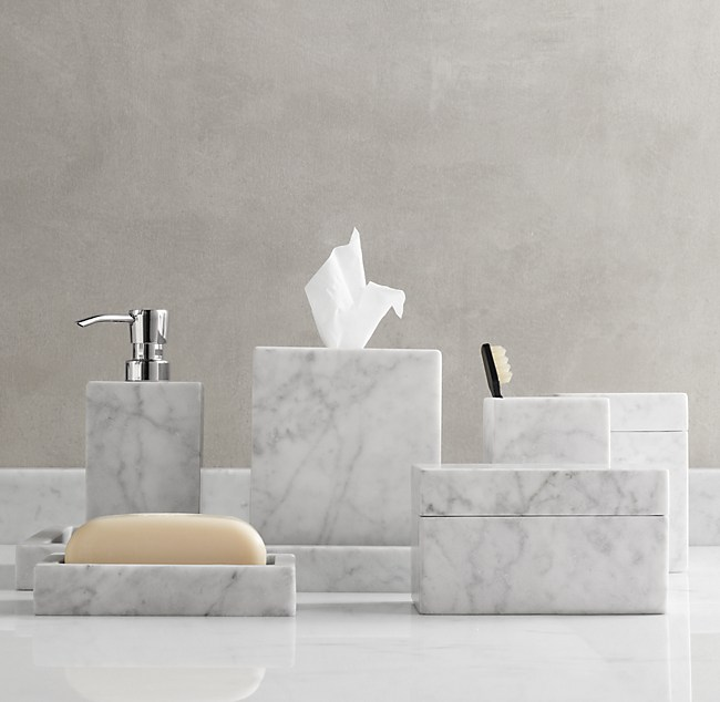 Bathroom Accessories Restoration Hardware marble bath accessories