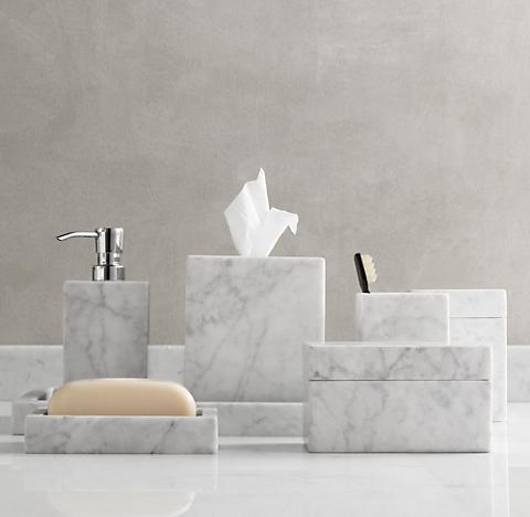 Carrara Marble Bath Accessories