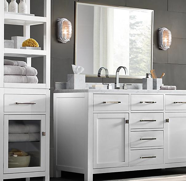 Crema marble bath accessories for Restoration hardware bathroom accessories