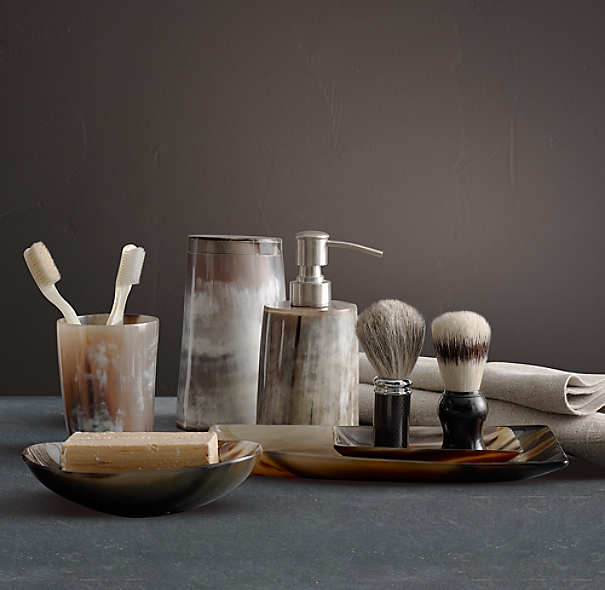 Horn bath accessories for Restoration hardware bathroom accessories