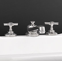 Grafton Cross-Handle Deck-Mount Roman Tub Faucet Set