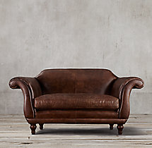 "72"" Regency Leather Sofa"