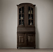 19th C. Swedish Brasserie Double-Door Glass Cabinet