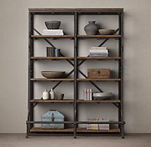 French Library Double Shelving