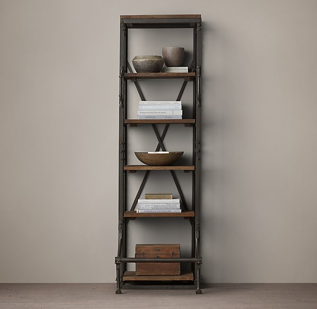 French Library Narrow Single Shelving