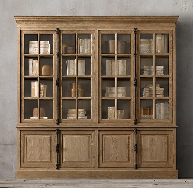 French Casement 4-Door Sideboard & Hutch - Casement 4-Door Sideboard & Hutch