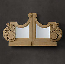 18th C. Parisian Architectural Bracket Mirror
