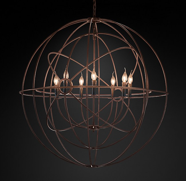Foucaults twin orb chandelier 41 aloadofball Image collections