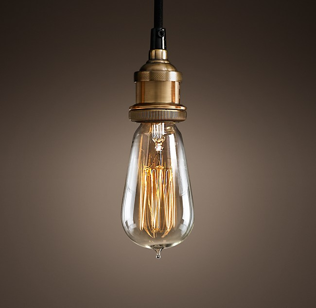 C factory filament bare bulb single pendant 20th c factory filament bare bulb single pendant mozeypictures Choice Image